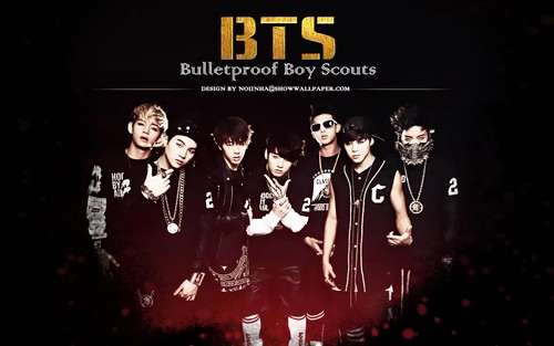 BTS achtergrond probably with anime titled ♥ Bangtan Boys!~ ♥