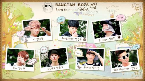 방탄소년단 바탕화면 possibly containing a newspaper and 아니메 titled ♥ Bangtan Boys!~ ♥