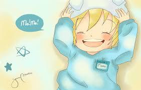 baby finn was happy