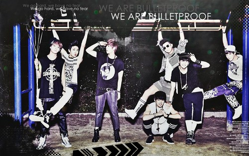 bangtan boys wallpaper probably with a sign and animê called ♥ º ☆.¸¸.•´¯`♥ Bangtan Boys ♥ º ☆.¸¸.•´¯`♥