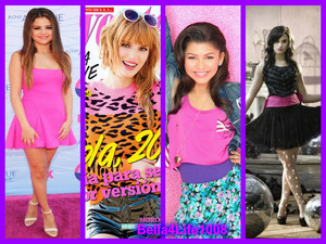 Bella Thorne,Zendaya,Selena Gomez,Demi Lovato
