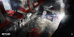 Beyond Two Souls digital concept art.