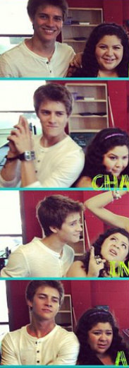 Billy Unger and Raini Rodriguez