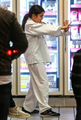 NEW PHOTOS* (Dec. 9) Blanket Jackson enjoys ice cream with Prince after winning new karate ceinture