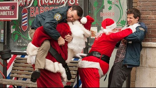 Brooklyn Nine-Nine fond d'écran titled Christmas fight