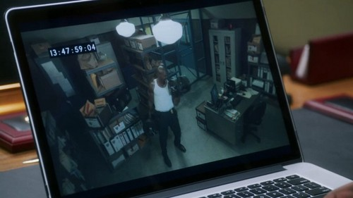 Brooklyn Nine-Nine wallpaper possibly containing a laptop and a notebook entitled Footage of Terry