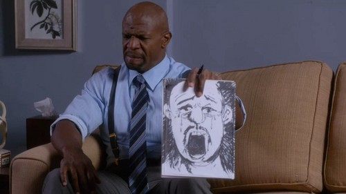 Brooklyn Nine-Nine fond d'écran possibly containing a business suit called Terry sees himself