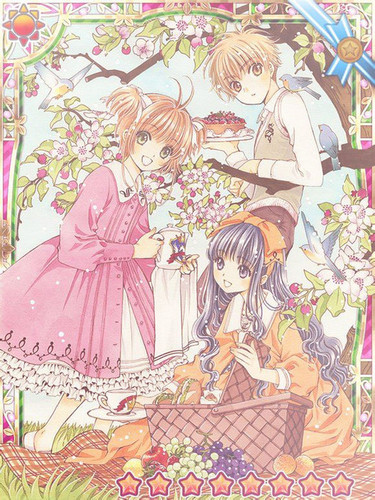 Cardcaptor Sakura wallpaper containing anime entitled Sakura, Tomoyo and Shaoran