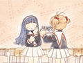 sakura taking video of tomoyo