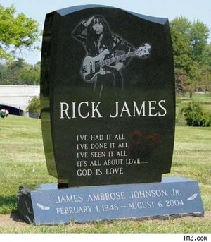 The Gravesite Of Singer/Musician, Rick James