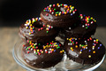 Chocolate Doughnuts - chocolate photo