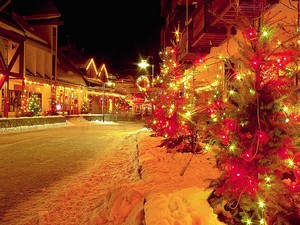 Natale strada, via Decoration