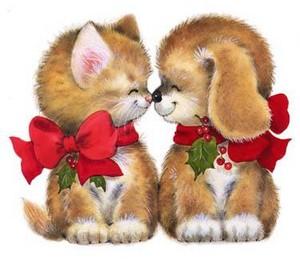 Christmas kiss ~ ♥ ♥