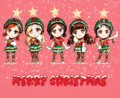 Crayon Pop - Christmas themed fanart - crayon-pop fan art
