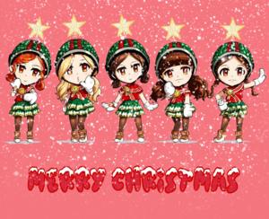 Crayon Pop - Christmas themed fanart
