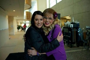 Paget and Kirsten // On set of Epi 200
