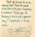 a thank you note dakota wrote - dakota-fanning photo