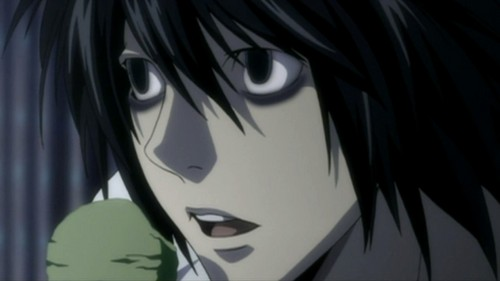 Death Note achtergrond called L Death Note
