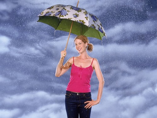 Dharma & Greg wallpaper with a parasol entitled   Dharma