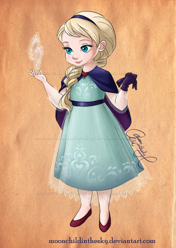 Disney Females wolpeyper called Little Elsa