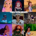 One of the princesses is not like the others...guess - disney-princess fan art
