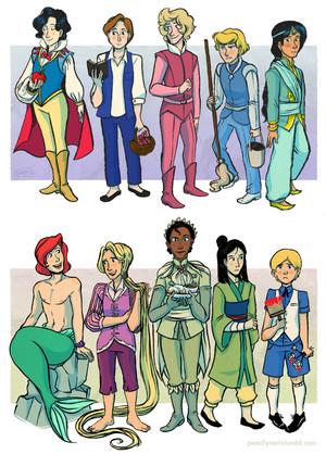 ディズニー genderbend
