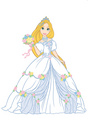 Rapunzel flower girl wedding dress - disney-princess photo