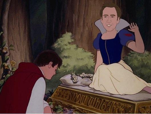 Nicolas Cage as Snow White