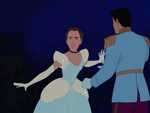 Nicolas Cage as cinderela