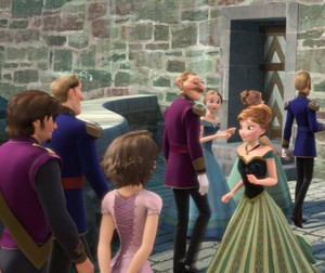 Rapunzel and Flynn are invited to the coronation