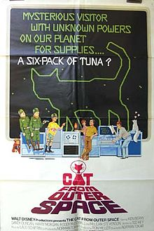 """Movie Poster For The 1978 disney Film, """"The Cat From Outer Space"""""""