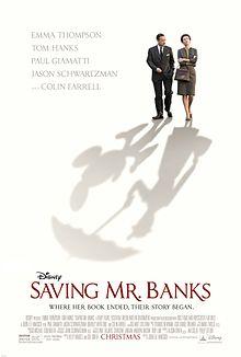 "Movie Poster For 2013 disney Film, ""Saving Mr. Banks"""