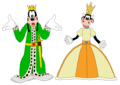 King Goofy and queen Clarabelle Cow - Mickey ratón Clubhouse