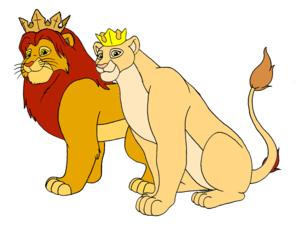 King Simba and 퀸 Nala