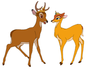 Prince Bambi and Princess Faline