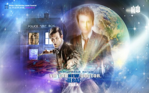 Doctor Who karatasi la kupamba ukuta entitled I AM THE NEW DOCTOR