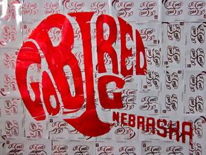 Nebraska Logo art from Dr Pepper cans