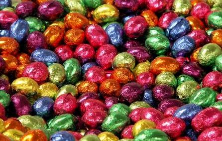 Easter Bunny Wallpaper Entitled Chocolate Eggs