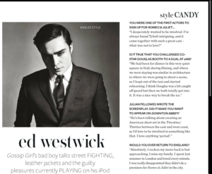 Ed Westwick UK InStyle January Issue