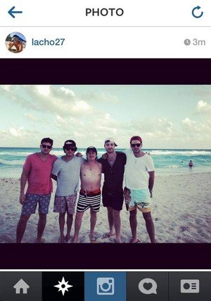 Ed Westwick with Friends in Secrets Resort The Vine-Cancùn Mexico.