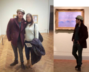 Ed Westwick at the Art Institute in Chicago