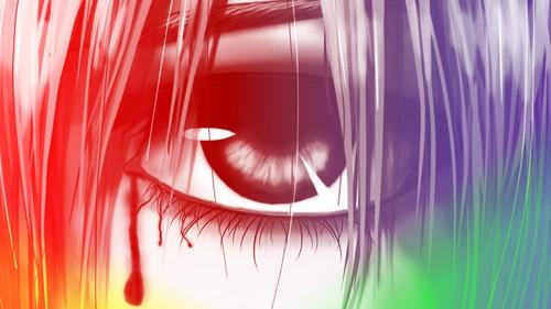 Elfen Lied fondo de pantalla called Lucy's Eye fan Art