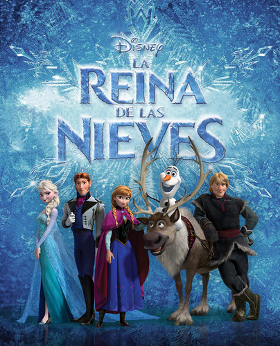 Elsa the Snow Queen hình nền possibly containing a dairy cattle, caribou, and a herder titled Nữ hoàng băng giá Edited Spanish Posters