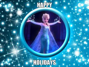 Elsa wishes u happy holidays