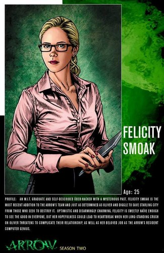 Emily Bett Rickards karatasi la kupamba ukuta containing anime titled Felicity Smoak