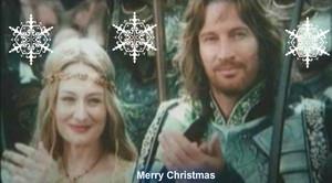 Eowyn and Faramir wish Merry Christmas