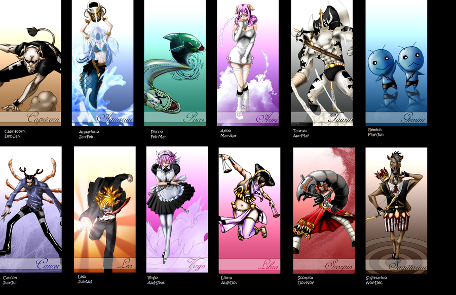 All Fairy Tail 12 Zodiacs