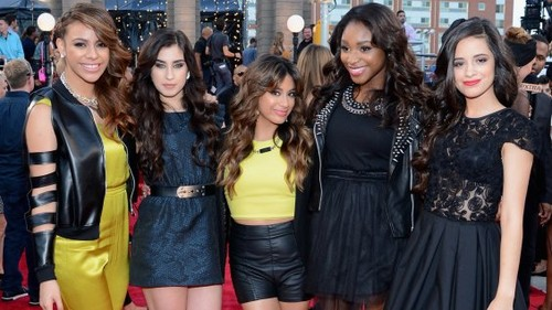 Fifth Harmony 壁纸 possibly containing a hip boot, a street, and a business district entitled fifth harmony1