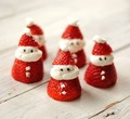 strawberry santas - food photo