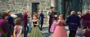Rapunzel and Eugene make a cameo appearance in For The First Time in Forever